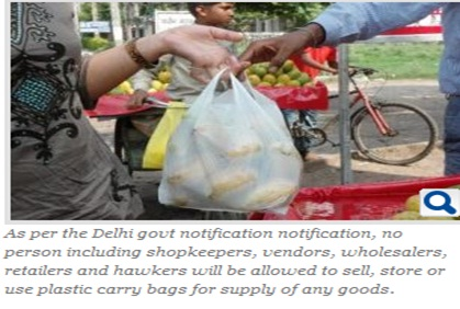 Ban on plastic bags to come into effect in Delhi from Nov 22