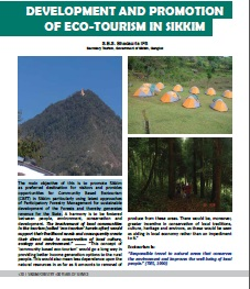 Development and Promotion of Ecotourism in Sikkim